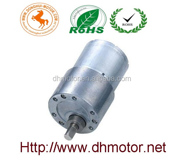 High torque low rpm 12v brushed gear dc motor manufacturer