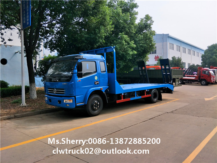 Factory direct wholesale Dongfeng Duolika Flatbed Excavator Truck