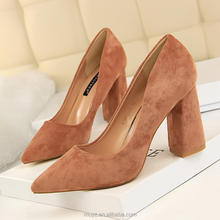 L2792A Fashion Pointy Toe Dress Shoes High Heel Office Lady Women Pump Shoes
