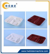 Five Compartment Disposable PP Plastic Takeaway Food Tray & Container with Lid