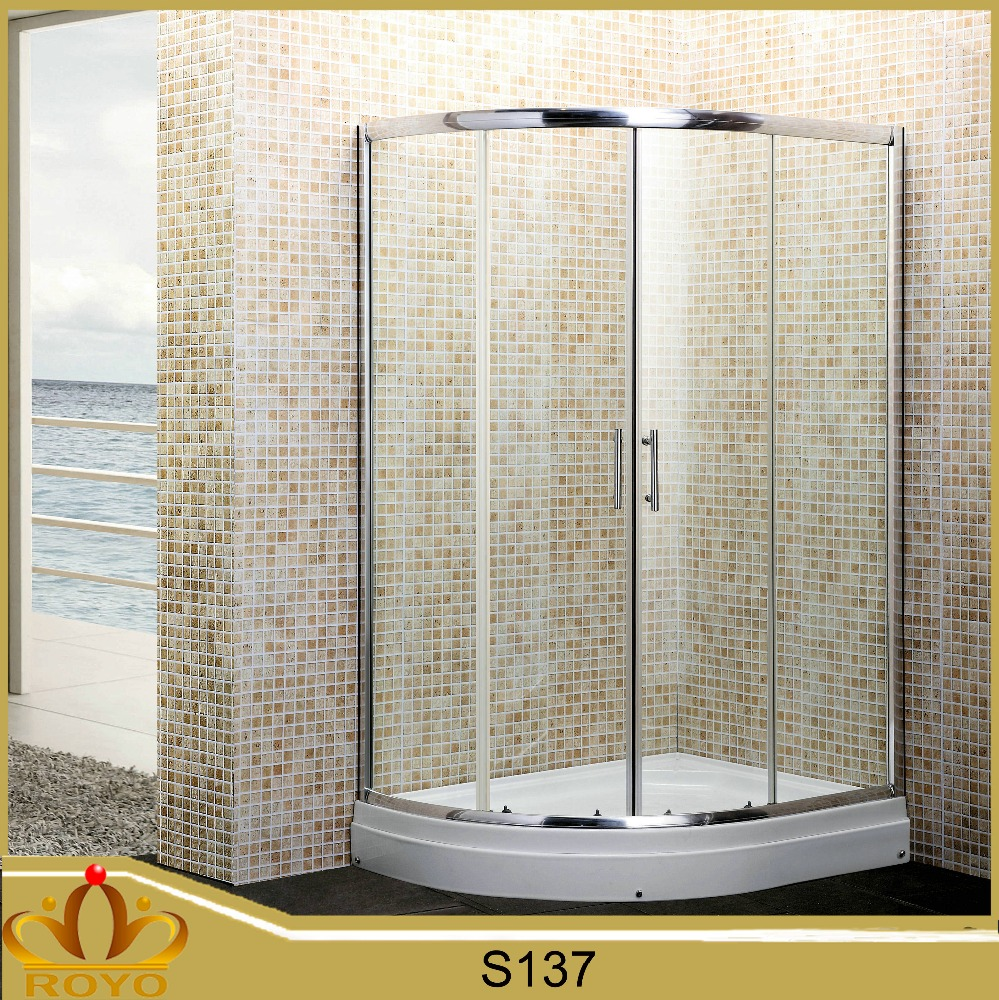 Bathroom Circular Lowes Freestanding Glass Shower Enclosure S137