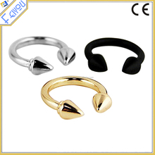 European and American retro exaggerated female punk rivet arrow finger ring