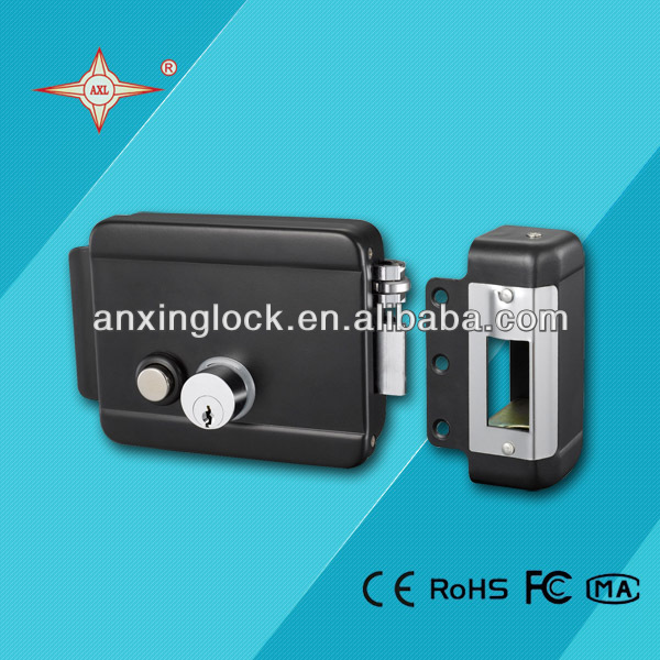 durable electric rim lock with push button and cylinder, electric lock pick gun