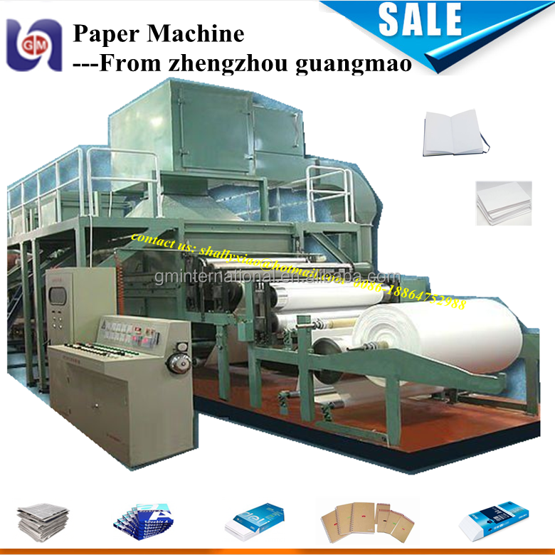 4300mm fourdrinier a3 a4 copy paper/ writing paper/ notebook paper making machine for making rolling paper