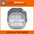 Hot sale! Octagonal Steel electrical outside junction box