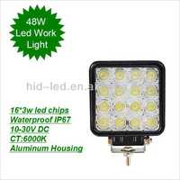 Factory price Energy saving offroad 4*4 truck lights 30000hours led work light rechargable 48W