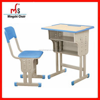 Hot sale china manufacture multiplying plywood board chair with desk school furniture