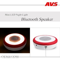 AVS manufacturer in china 2016 new high quality small led light bluetooth speaker mini bluetooth wireless portable