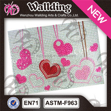 rhinestone heart decorative latop skin sticker