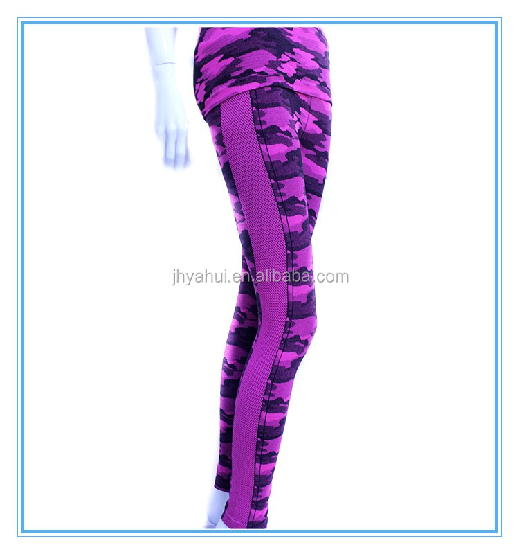 Ladies leopard 2 pieces fitness yoga wear set