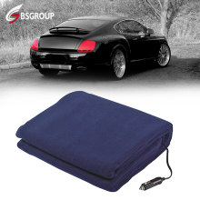 Polyester Fleece Portable 12V Cover Blanket 24V Electric Throw Blanket for Car