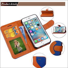 Colorful Soft TPU easy breath Flip Cover anti-drop phone case for iphone 6 case , for iphone 6 plus leather card slots case