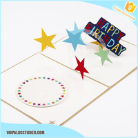 Fashionable Handmade happy birthday cards friends,Decoration Happy Birthday Greeting Card,3D pop up card