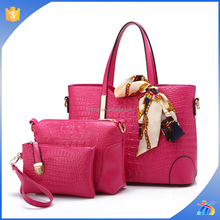 2015 top quality china suppliers hand bags stylish sets tote women bag