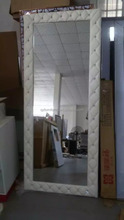 White color styling station /european style salon mirrors station QZ-JX301M
