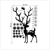 Wholesale Christmas Decorative Wall Sticker Colorful Glass Window Sticker Xmas Party Decor