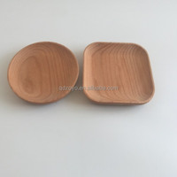 round or square shape wood plate ,small size