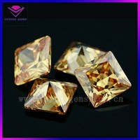 Synthetic square shaped gems cubic zircoina bead making supplies