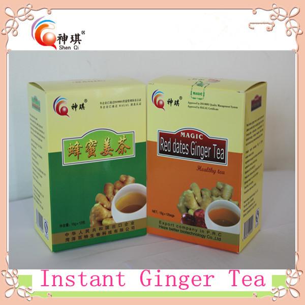 Hot sale Flavored Tea , 100% natural <strong>health</strong> instant honey ginger tea powder of ginger drink