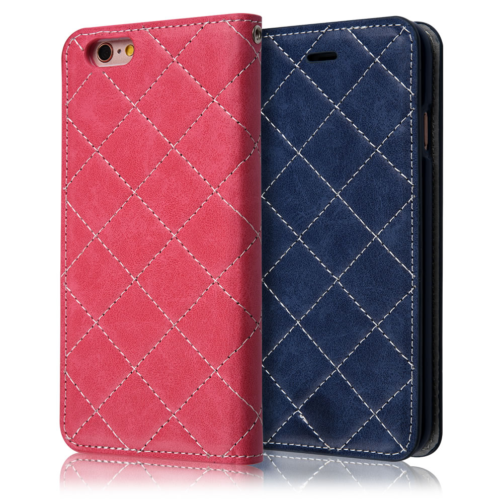 C&T Luxury Plaid Pattern PU Wallet Stand Leather Case for iPhone 6 Plus 5.5