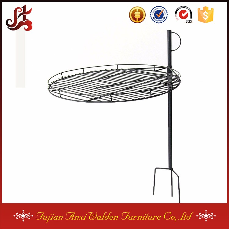 "Height Adjustable Fire Pit Cooking Grate 24"" Steel Camping BBQ barbecue grill grates"