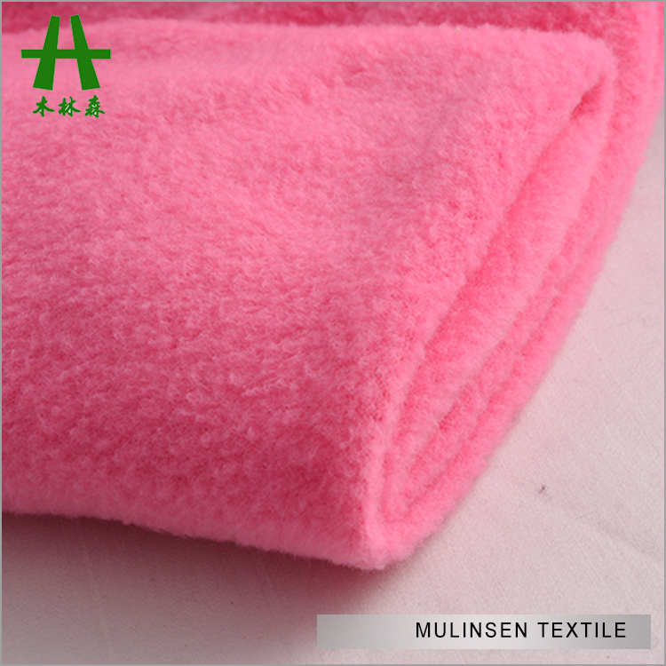 Mulinsen Textile Knit Poly DTY Brush 100 Polyester Polar Fleece Fabric For Dress