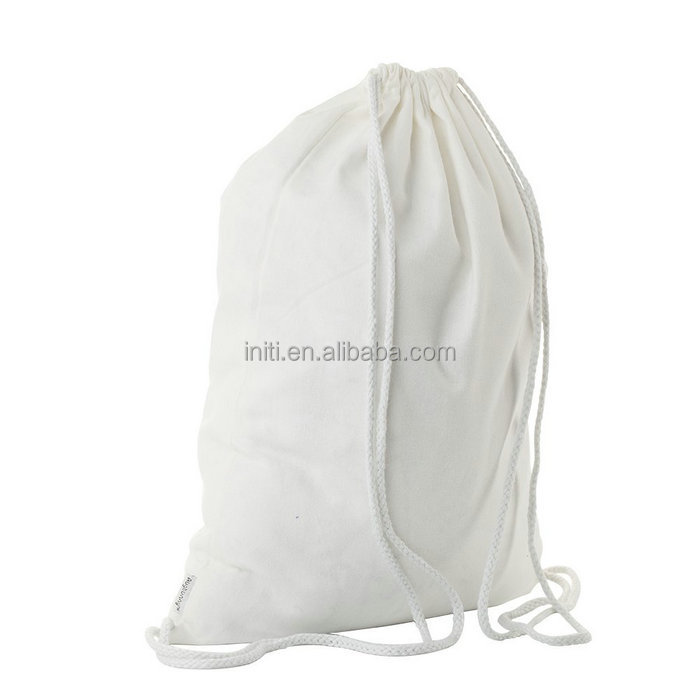 Wholesale wholesale cotton fabric drawstring bag with custom logo