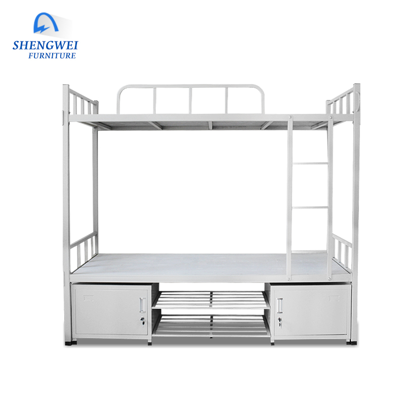 Chinese Shengwei furniture hotel school adult metal bunk <strong>beds</strong> for bedroom