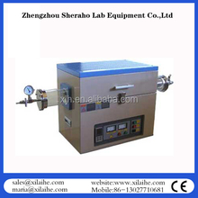 "2-zones Nitrogen Atmosphere tube furnace for 6"" silicon wafer annealing used in university"