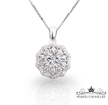 hot sale single stone cz studded wedding and engagement pendant
