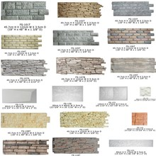 Polyurethane Beauty Cheap Exterior Decorative Wall Panel PU interlocking stone wall tiles