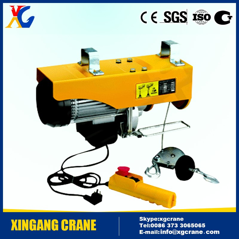 Hot sale PA100 PA200 PA500 PA1000 mini 100kg 1000kg electric hoist, small electric hoist