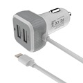 Hot-selling 2 USB Output Car Charger with 1M iphone6 cable and output 6.6A