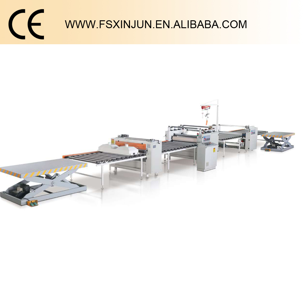 Paper sticking production line woodworking machine