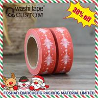 Hot selling custom masking tape jumbo roll Christmas designs!