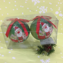 Flashing Plastic Ball for Christmas Ornament With Gift Box Manufacturer