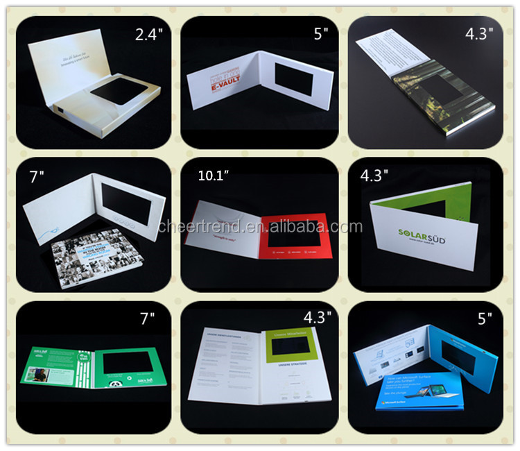 2.4/2.8/3.5/4.3/7inch lcd video invitation card/ invitation lcd video greeting card / video wedding invitation card