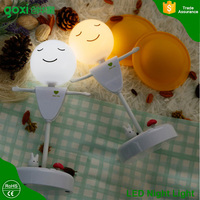 Vibration sensor scarecrow design rechargeable small led night light for baby,kids