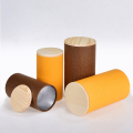 Round tea packaging cans, paper cans and wooden cap
