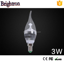 popular 2016 hot sell 360 degree/ E14&E12/ led filament bulb/UL CE Rohs led light candle