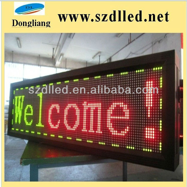 Super High Brightness P4.75 dual color/single color led digital table clock display