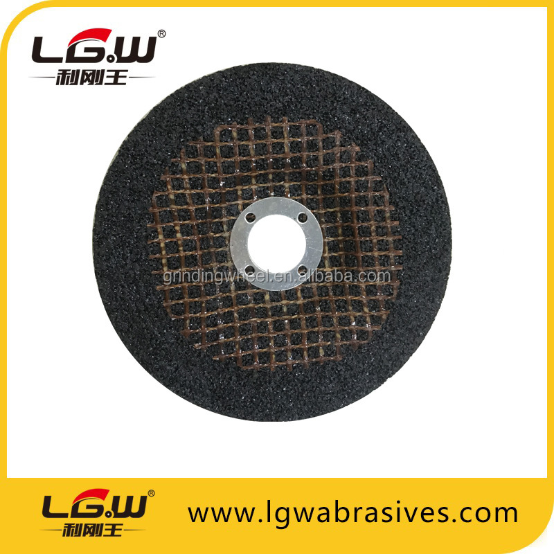 "T27 4.5"" 115X6X22.2mm Resin grinding wheel/grinding disc for metal,stainless steel from China"