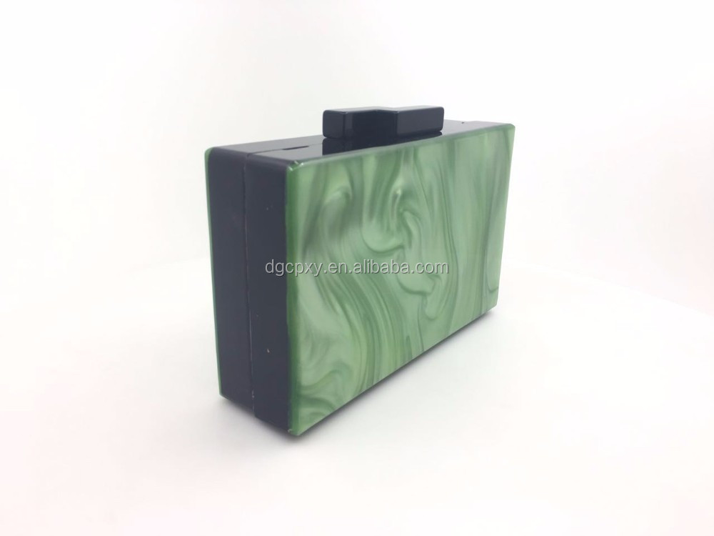 The new European and American fashion big - name section of the small Xiang acrylic square box evening bag package