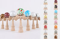 High quality scrawl paint wooden toy kendama for wholesale