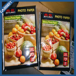 Waterproof double sided high glossy inkjet photo paper made in China