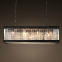 Rectangular Country Vintage Chandelier Glass Crystal Chandeliers Lighting Pendant Lamp CZ2595/8