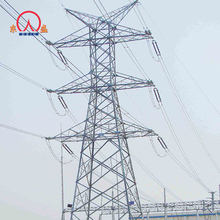 110kv 132kv 10ft steel 33kv double circuit pole power transmission line 20 meter tower