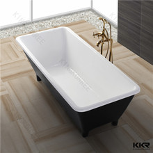 acrylic solid surface polymer resin freestanding Bathtub with legs