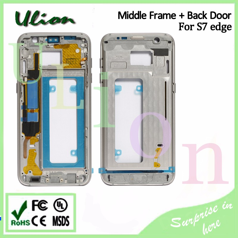 Original Full Back Housing Middle Bezel Frame For Samsung Galaxy S7 Edge G9350 G935 Middle Frame Housing Border Rim
