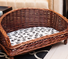 Home & garden PE wicker dog house cat bed and rattan pet furniture